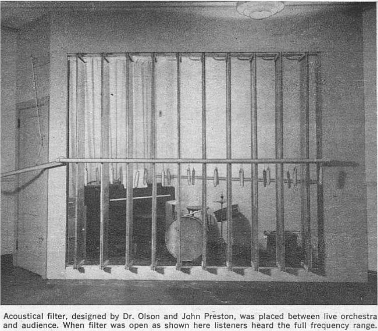 Expérience Olson - Dispositif rideau ouvert