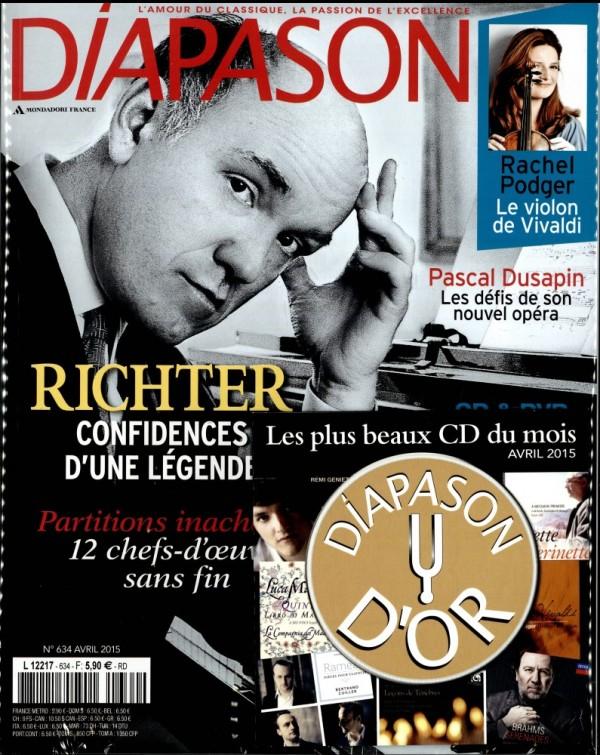 Diapason n° 634 avril 2015