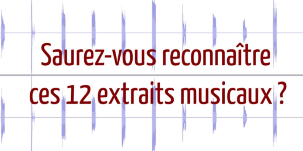 Saurez-vous reconnaître ces 12 morceaux avec seulement des extraits de 350 ms ?